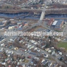 Waterville, Maine Downtown Aerial Photos